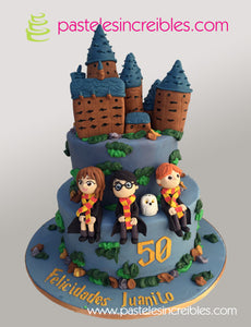 Pastel de Harry Potter Hogwarts