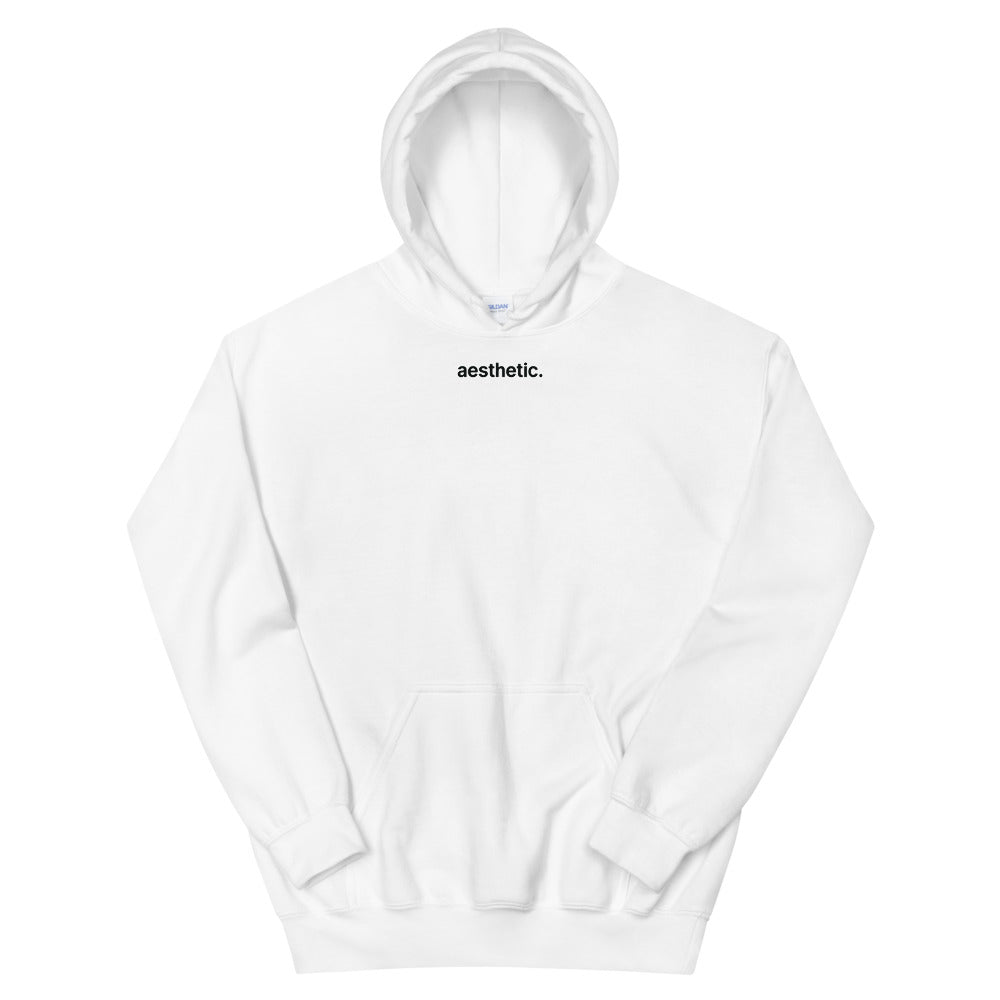 """Aesthetic"" Unisex Hoodie by Space 42 (Black Lettering)"