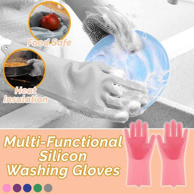 Silicon Washing Gloves (Pair)