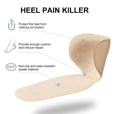 3 Pairs of Super Soft T-shaped Silicone Anti-bladder Heel Pad. (Save 30% OFF)