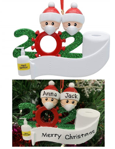 OFFER 3 PCS 😷🎄  Funny 2020 Ornament Gift - Write Names on them!