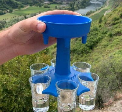 6 Shot Glass Dispenser and Holder 🎅🎄🎁 GIFT IDEAS CHRISTMAS