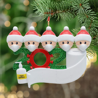 😷 🎅  Funny 2020 Ornament Gift - Write Names on them!
