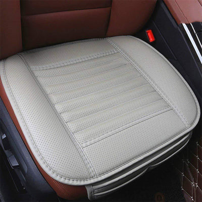 Four Seasons Universal Dani Leather Charcoal Car Seat Cushion