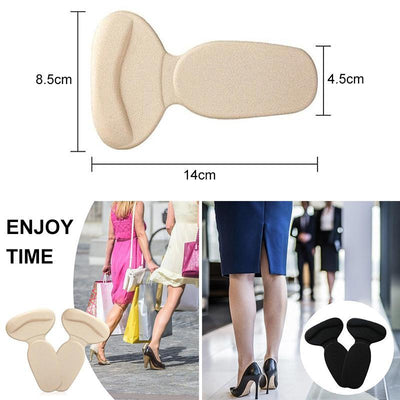 1 Pair of Super Soft T-shaped Silicone Anti-bladder Heel Pad
