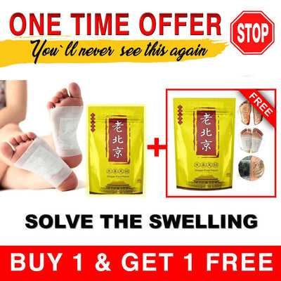 Anti-Inflammation/Swelling Ginger Foot Patch™ 2 x 1 Special OFFER