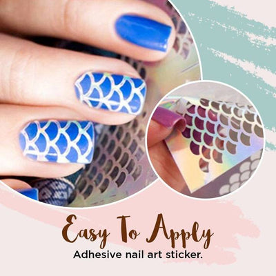 Nail Art Stencil Sticker [144 stickers]