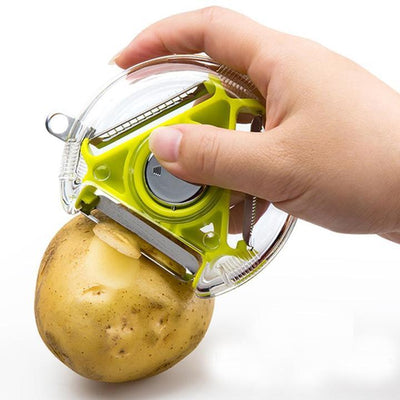 Three-In-One Stainless Steel Peeler