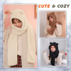 Cute Bear Ears Warm Hat Scarf