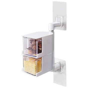 Wall-mounted Rotatable Spice Box