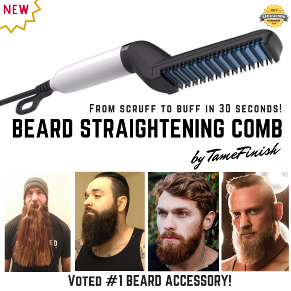 TameFinish™ Beard Straightening Comb in 30 seconds