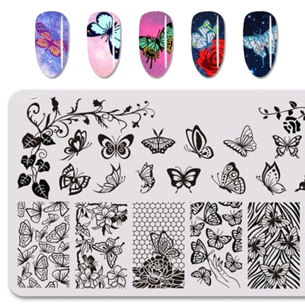 Butterflies - Nail Template
