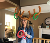 OFFER  Family and Friends, Reindeer Antler Ring Toss Game