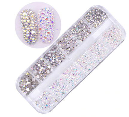 Gem 3D glitter nail art decoration