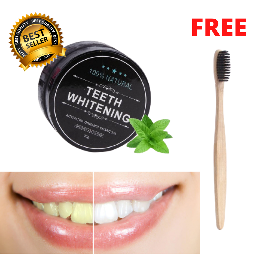 BESTSELLER - Organic Charcoal Activated Teeth Whitening Powder