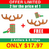 2x1  OFFER LIMITED Christmas Reindeer Antler Ring Toss Game