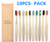 10PCS Colorful Natural Bamboo Toothbrush