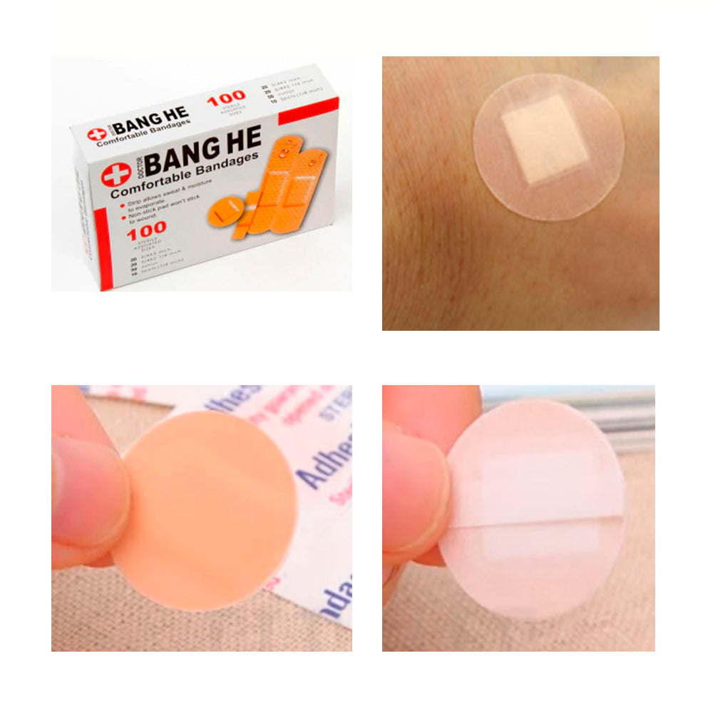 (100pcs) Bandages Aid Medical Anti-Bacteria