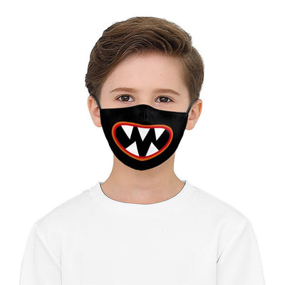 Kids Face Mask - Black Ghost