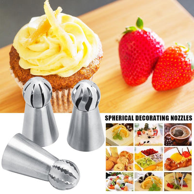 3 New Designs 🎁 🎂  Spherical Decorating Nozzles