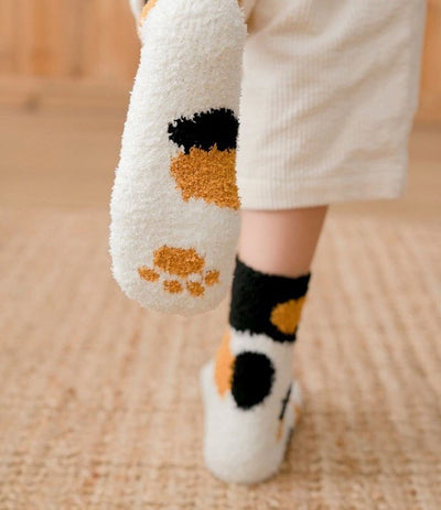 Winter Cat socks Claws Cute Thick Warm Sleep Floor Socks