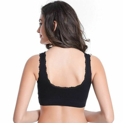 Front Cross Wireless Lace Lift Comfort Bra - Offer