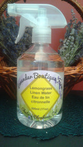 Lemongrass linen water