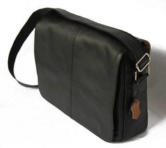 Image of Messenger bag shoulder bag genuine leather - man