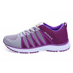 Image of Women Running Sneakers Lace Up Mesh