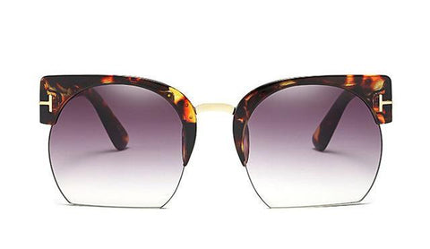 Newest Semi-Rimless Sunglasses Women