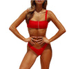 Image of Set Brazilian Bathing Solid Bikinis Beach