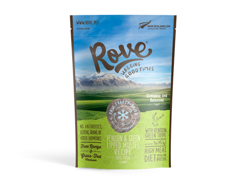 Rove Freeze-Dried Venison & Mussel Dog Food