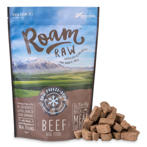 Roam Freeze-Dried Beef Dog Food 450g