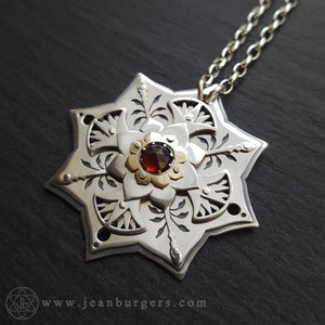 Red Lotus Pendant