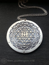 Sri Yantra Flower of Life Pendant