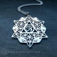 64 Tetrahedron Grid Eye of Ra Pendant - Jean Burgers Jewellery
