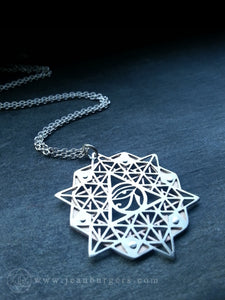64 Tetrahedron Grid Pendant - Eye of Ra