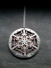 Ankh Lotus Metatron's Cube Pendant - Handcrafted by Jean Burgers Jewellery