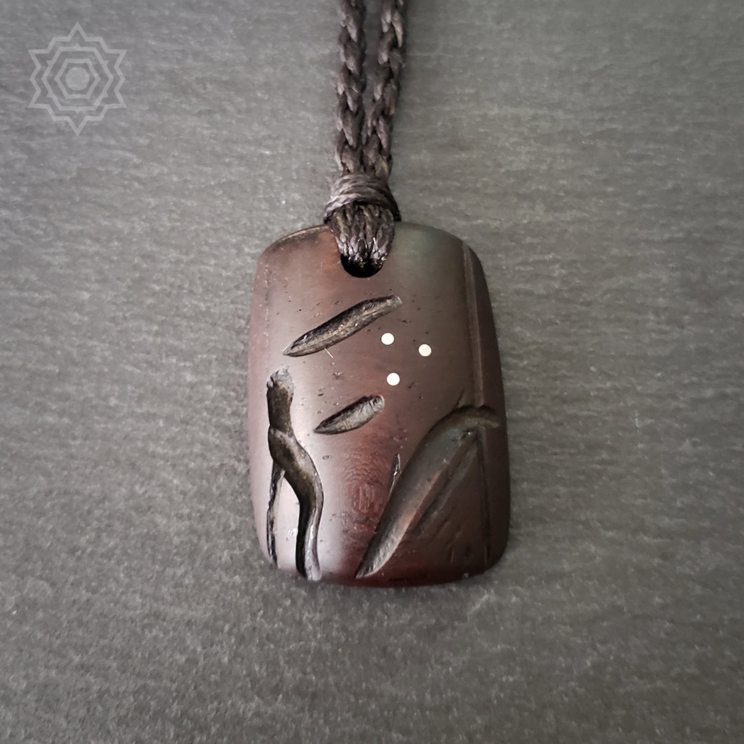 Abstract Tribal #1 Ebony Pendant - ifnotforgravity