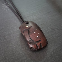 Abstract Tribal #3 Ebony Pendant - ifnotforgravity