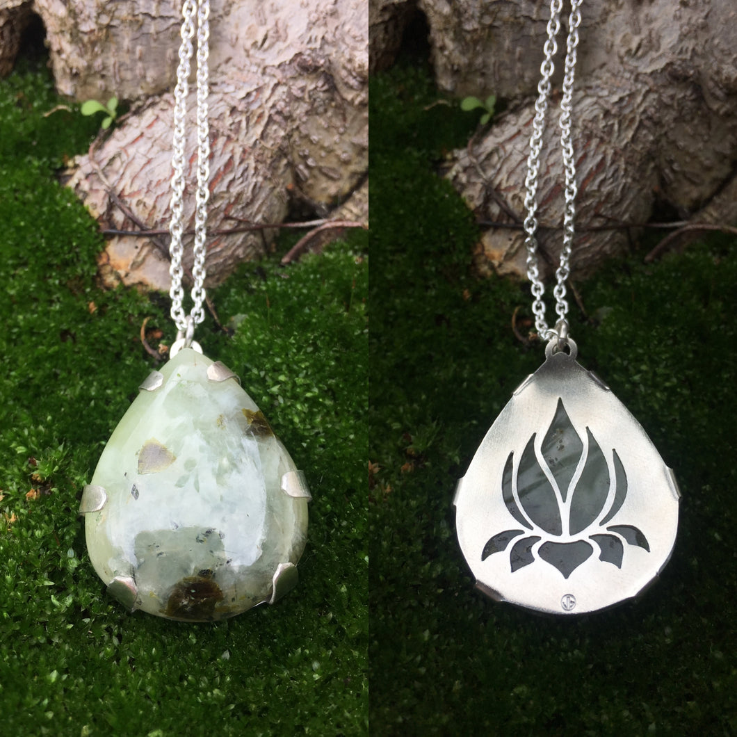 Lotus Teardrop Pendant  ~Renewal Series~