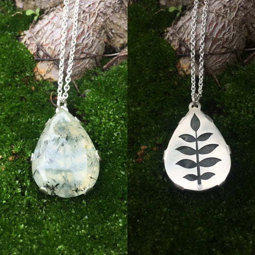 Leaf Teardrop Pendant  ~Renewal Series~