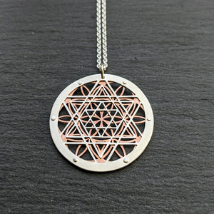 Tetrahedron Flower of Life Pendant
