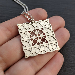 Geometric Grid pendant - small
