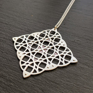 Geometric Grid pendant - large