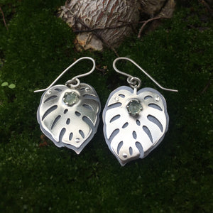 Monstera Earrings  ~Renewal Series~