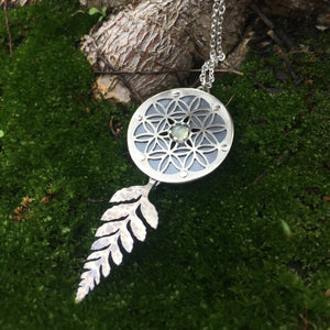 Fern Flower of Life Pendant  ~Renewal Series~
