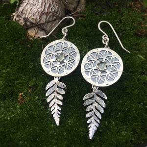 Fern Flower of Life Earrings  ~Renewal Series~