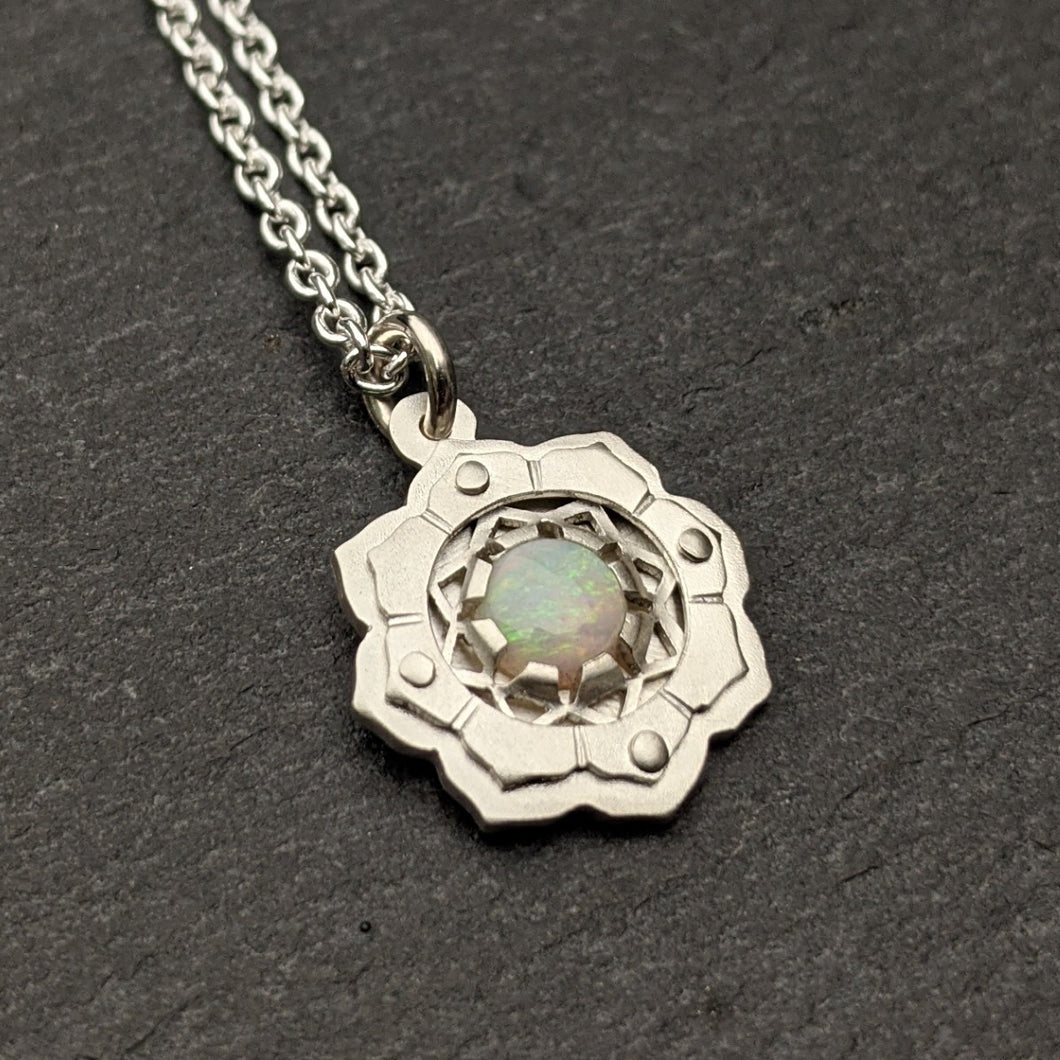 Little Lotus Pendant - choose your own gemstone