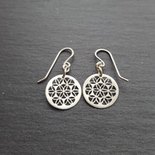 Tiny Flower of Life Earrings